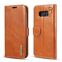 DG MING Brand Genuine Leather Microfiber 2 In 1 Cover Phone Case Card Holder For Samsung
