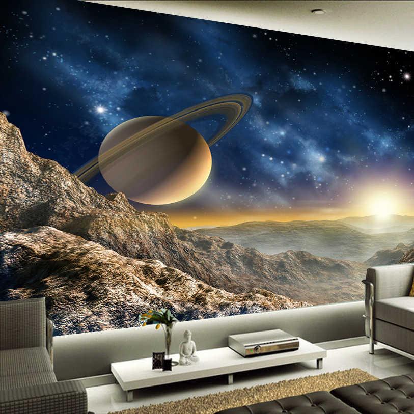 عالية الجودة مخصص 3D صور خلفيات الفضاء الكون التصوير خلفية ديكور المنزل طلاء جدران غرفة المعيشة التلفزيون جدارية ورقة