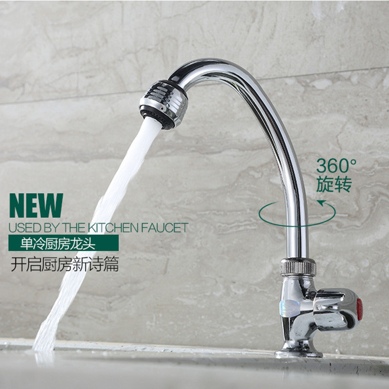 Free shipping Cast Iron kitchen faucet with electroplating single ...