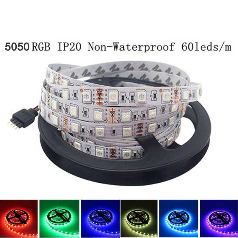 5M Non Tahan Air 5050 3528 2835 LED Lampu Strip Pita 5M 300 LED DC 12V RGBW/ putih//Hangat Putih/Merah/Hijau/Biru/Rgbww/Pita RGB