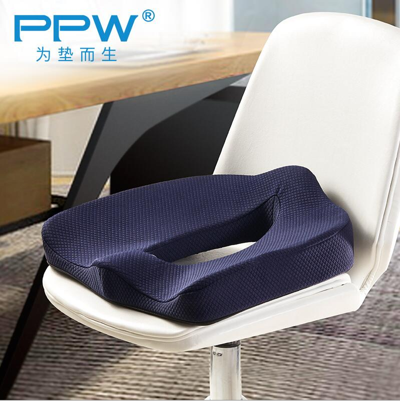 PPW Sciatica Relief Adult Car Seat Anti Hemorrhoids Booster Cushion Memory Foam Coccyx Seat Cushion for Office Chair