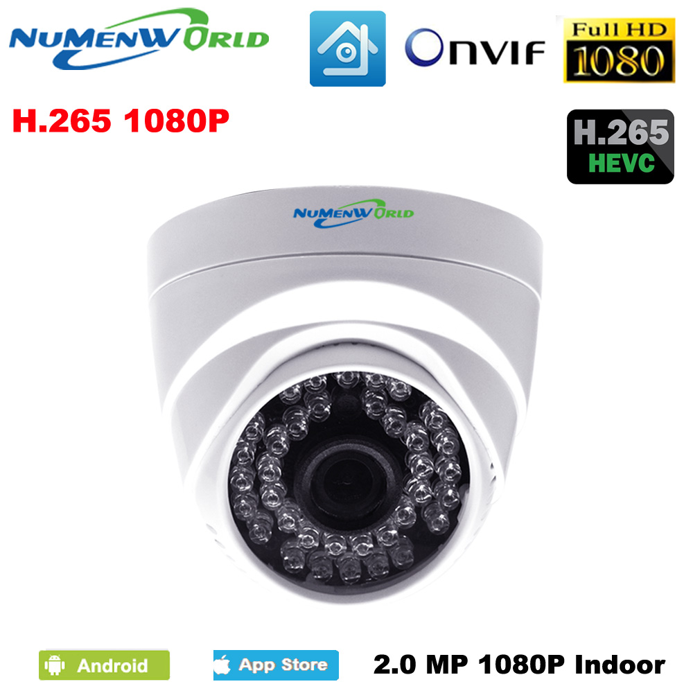 Good H.265 2.0MP IR network IP cam 1080P HD CCTV Video surveillance dome security IP camera ONVIF day/night indoor webcams hot sales mini wifi surveillance 1080p 2 0mp hd network cctv security indoor network ip camera onvif h 264 small home video cam
