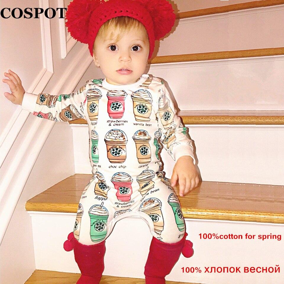 COSPOT Մանկական Աղջիկներ տղաներ Romper Նորածիններ Տղամարդիկ Գարնանային Զամբյուղ Նորածնի Բամբակյա Rompers Մանկական Պիժամա Երեխա Տղաների Աղջիկների հագուստ 2019 Նոր F29