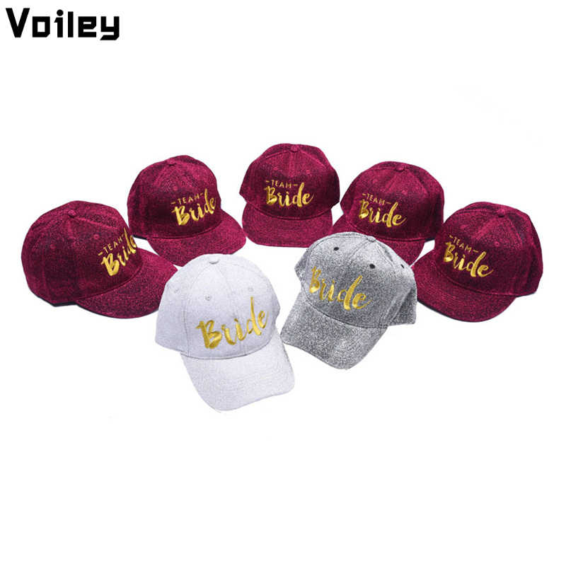 fac8cad646a3a Wedding Decoration Bride To Be TEAM BRIDE Baseball Cap Hen Night Party  Decoration Bridal Shower Bachelorette