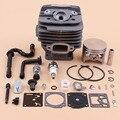 48 мм цилиндр поршень топливный шланг натяжитель цепи Carb Ремонтный комплект для Stihl 036 MS360 MS 360 бензопила восстановленные части 11250201206