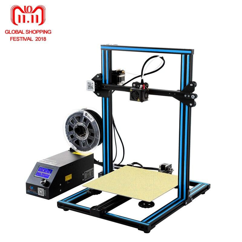 Di grande Formato di Stampa CR-10 Creality 3D Stampante Completamente In Metallo 300*300*400mm Stampante CR-10 Più Il Formato di Stampa 3D Stampante Kit FAI DA TE