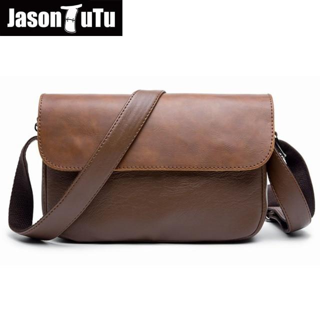 82f4c9487a5 JASON TUTU Mannen messenger bags Mini kleine tas schoudertassen Goede  kwaliteit PU lederen Crossbody tas mannelijke