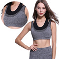 2016 Sexy Women's Double Layers Tank Top Summer Sleeveless Crop Tops Woman Fitness Tanks Femme Vest Tube Bra Underwear 1004
