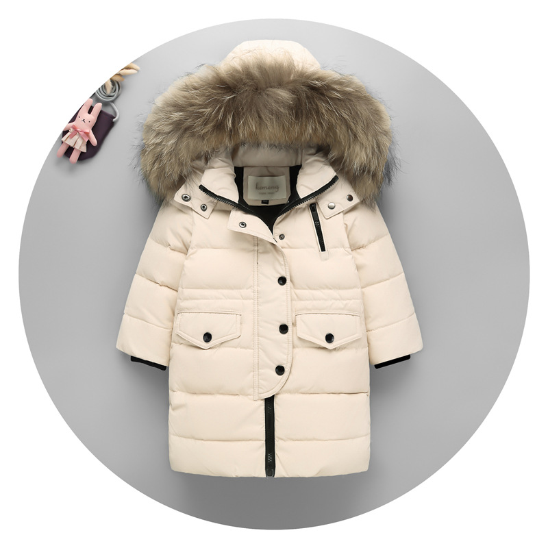 New Year Clothing White Duck Down Jacket Thin Down Jacket Girls Teenagers Down Jacket Children Winter Filling Down Jacket Boy