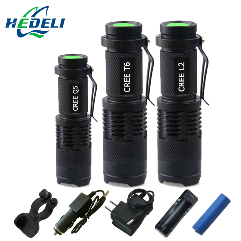 2016 new Zoom Mini cree XML T6 flashlight LED torch XM-L L2 xm l q5 lanterna waterproof Use rechargeable batteries flash light brand new dx1 cree xm l xml xm l2 15w 2000lm aluminum alloy waterproof led diving flashlight underwater lamp torch flash light