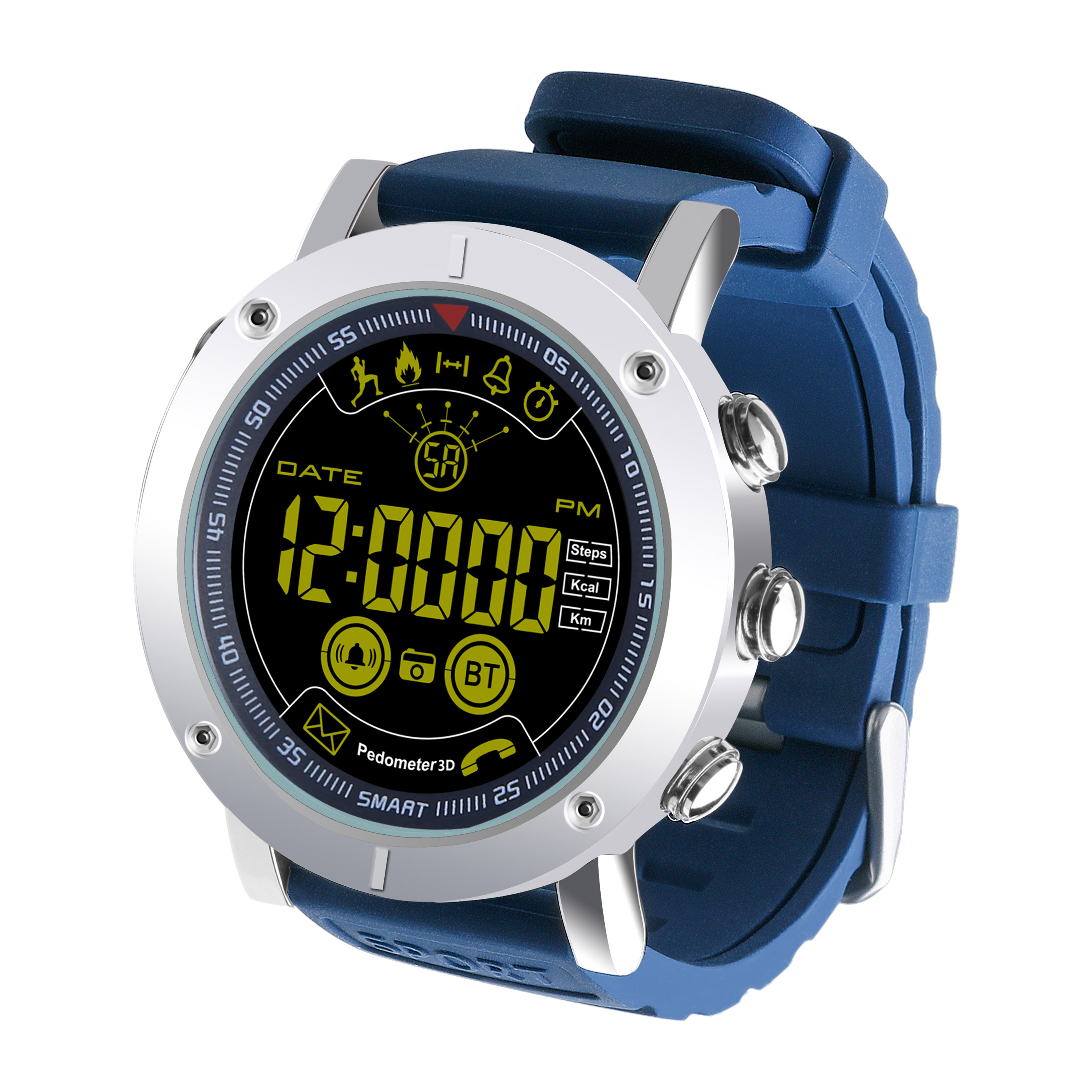 EX19 Smart Watch Fitness Tracker 5ATM Waterproof Swimming Call SMS Alert Sport Pedometer Smartwatch Stopwatch Smart Wristwatch