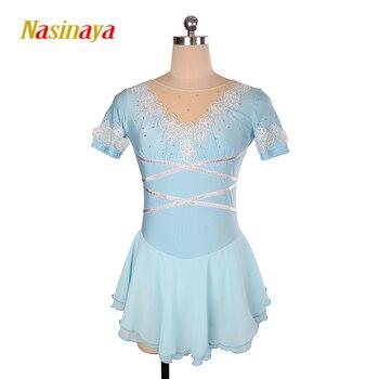 Nasinaya Figure Skating Dress Customized Competition Ice Skating Skirt for Girl Women Kids Patinaje Gymnastics Performance 122