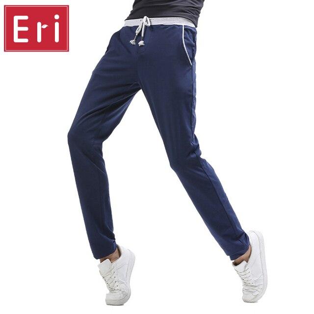 Тренировочные брюки Лоскутное Мужчин Бренд Брюки Брюки Jogger Хлопок Drawstring Эластичный Пояс Повседневная Одежда X273