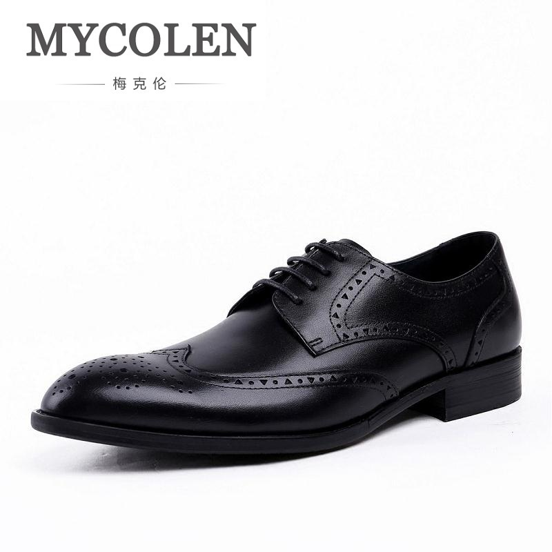 MYCOLEN New Design Real Eather Mens Formal Business Shoe Men Breathable Dress Shoes Lace-Up Driving Flats Zapatos Para HombresMYCOLEN New Design Real Eather Mens Formal Business Shoe Men Breathable Dress Shoes Lace-Up Driving Flats Zapatos Para Hombres
