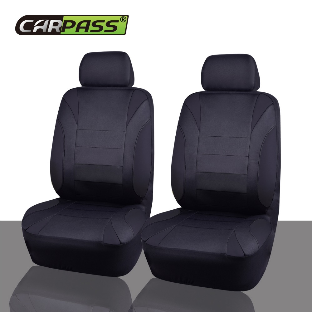 Car Pass 2017 Four Season Oxford Car Seat Covers Black