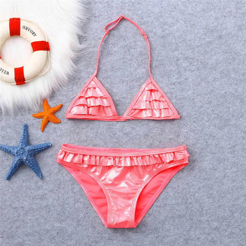 060860e12f9e Children swimwear for girls children swimsuits girls swimsuit kids bathing  suit 3-10 years Ruffles