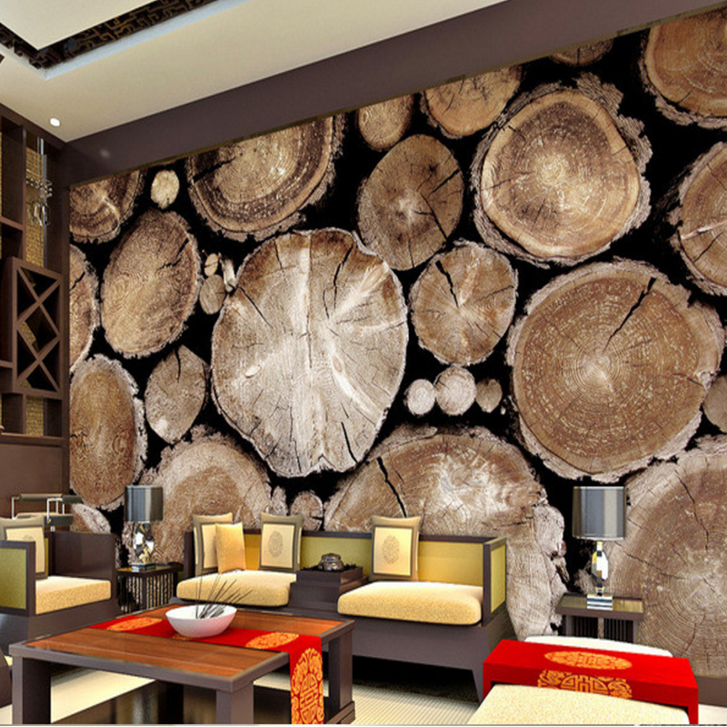 Custom wallpaper for walls 3 d Non-woven Wallpaper Retro Wood Abstract Art wall Living Room Sofa TV Background Photo Wall Paper wallpaper for walls 3 d modern trdimensional geometry 4d tv background wall paper roll silver gray wallpapers for living room