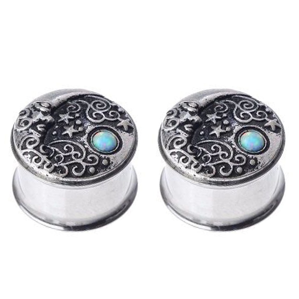 Jewelry amp watches gt fashion jewelry gt body jewelry gt body piercing - Hot Selling 2pcs Opal Design Ear Piercing Tunnels Flesh Plugs Body Jewelry Ear Expander Reamer Body