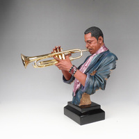 Crafts Arts Home decoration The Xinrong musical figure of trumpeter karaoke bars and tea furnishings showroom decoration sculptu