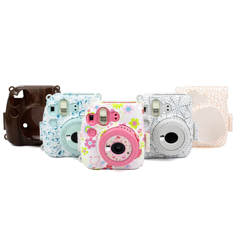 Flower Brightness Bags for Fujifilm Instax Mini 8 Mini 8s 9 Instant Camera  Case Strap Protector Dust Proof Cover Gifts-in Camera/Video Bags from