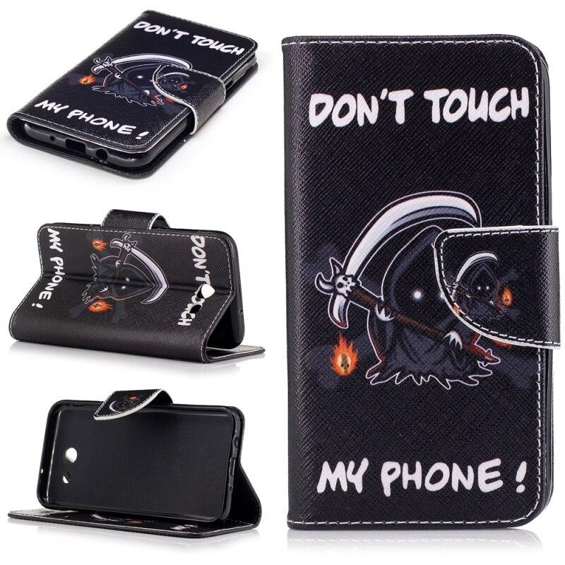 Galleria fotografica Pour Coque Samsung Galaxy J3 Émerger/J3 Premier/J3 (2017) cas À Motifs En Cuir Portefeuille Smartphone Couverture Case pour Galaxy J 3 (2017)