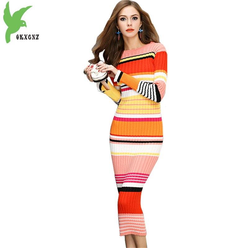 be8c3f37a9f Цвет полосы трикотажные платья Осенняя женская обувь Свитера ...