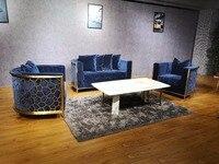 2018 YG мебель Роскошные Высокое качество Золотой Сталь диван