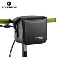 ROCKBROS Waterproof Bike Bicycle Bag 3 4L Handlebar Bag Bicycle Front Tube Pocket Shoulder Pack Riding