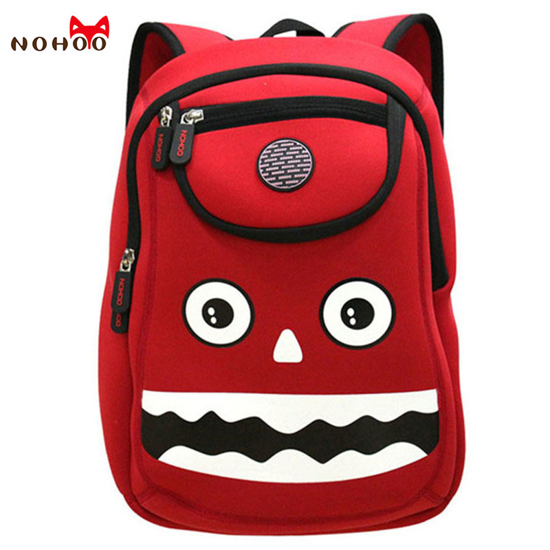5aa614fbdbd NOHOO Children 3D Waterproof Child School Backpacks Cute Charater Pattern School  Bags for Girls Boys For 3 to 7 Years Old