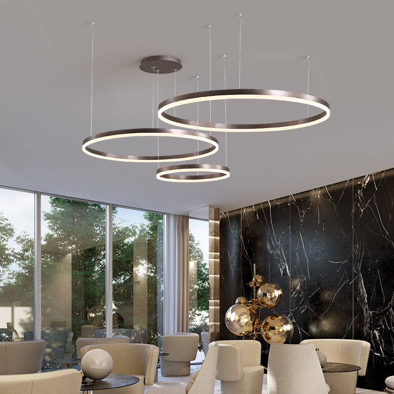 Lukloy Large Rings Pendant Lights Led O
