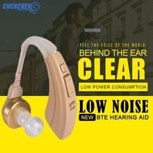 Newest Behind Ear Amplifier Hearing Aid Adjustable Aparelho Auditivo Digital for Hearing Loss Elderly Deaf Ear Care feie aparato auditivo ric digital my 19 ear hearing machine for the elderly free shipping