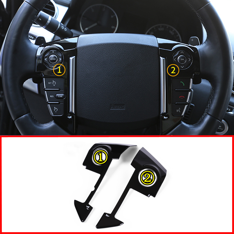 ABS Chrome Car Styling Steering Wheel Cover Trim For Land Rover Range Rover Sport L320 2010