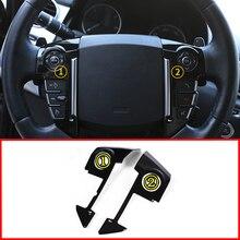 ABS Chrome стайлинга автомобилей Руль Накладка для Land Rover Range Sport L320 2010 2011 2012 2013 Интимные аксессуары подкладке