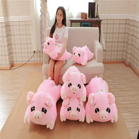 New Arrival Lovely Big Size Lying Pig Doll Plush Toy Pink Pig Pillow Cushion Stuffed Animal Gift For Children Kids
