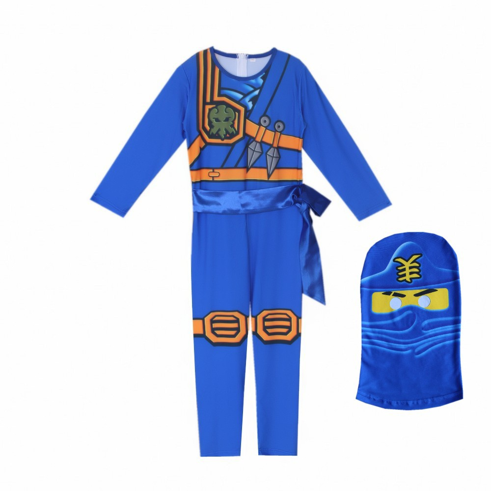 LEGO NINJAGO Advanced Latest Role Playing Costume Boys and Girls Jumpsuit Set Halloween Christmas Party Ninja Superhero 2