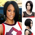 New Design High Quality Anime Cosplay Fashion Sexy Natural Heat Resistant Synthetic Short Black Wig For Women Free Shipping