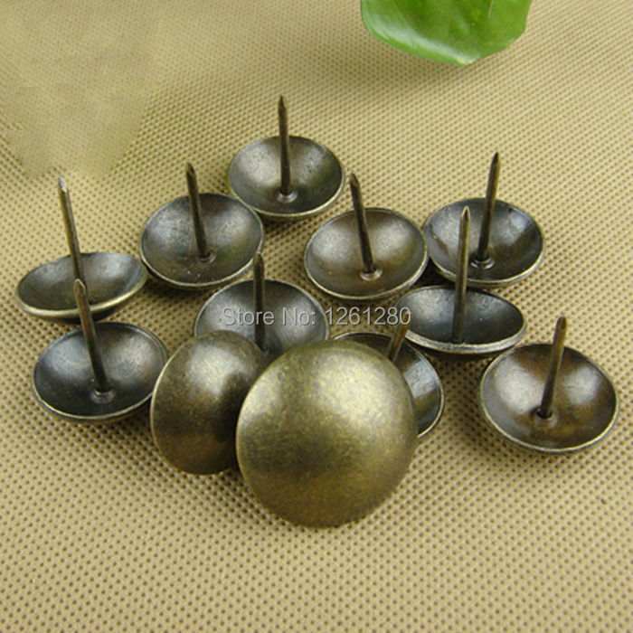 free shipping 50 pieces Nails plated copper drum nail doornail Archaize decorative nail thumbtack hardware fastener