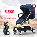 On the plane baby stroller ultra-light portable high-profile children folding pocket can sit and lie