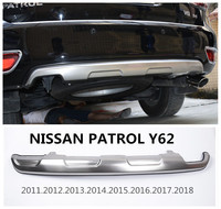 For NISSAN PATROL Y62 2011 2012 2013 2014 2015 2016 2017 2018 BUMPER GUARD BUMPER Plate High Quality Stainless Steel Accessories