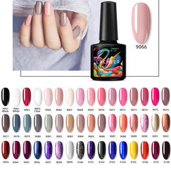 Lacheer 10 мл гель лак для ногтей Soak Off ногтей Led ногтей гель лак Полупостоянный УФ лак для ногтей 48 Цвета гель выберите