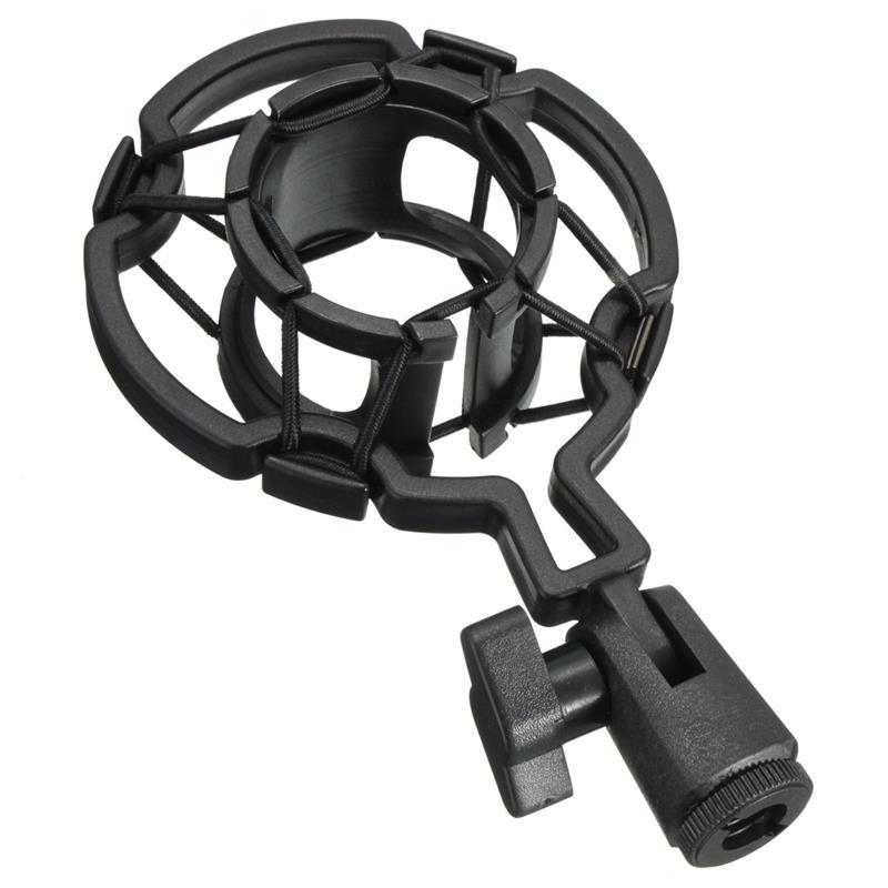 Universal Professional Condenser Microphone Mic Shock Mount Holder Studio Recording Bracket For Large Diaphram Mic Clip