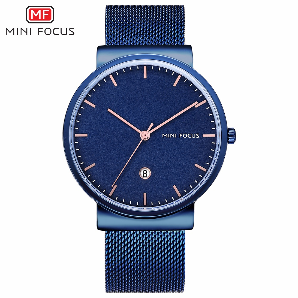 2018 MINI FOCUS Brand Men Watch Luxury Stainless Steel Quartz Sports Watches Men Ultra Thin Date Clock Male Business Wrist Watch nibosi men s watches new luxury brand watch men fashion sports quartz watch stainless steel mesh strap ultra thin dial men clock