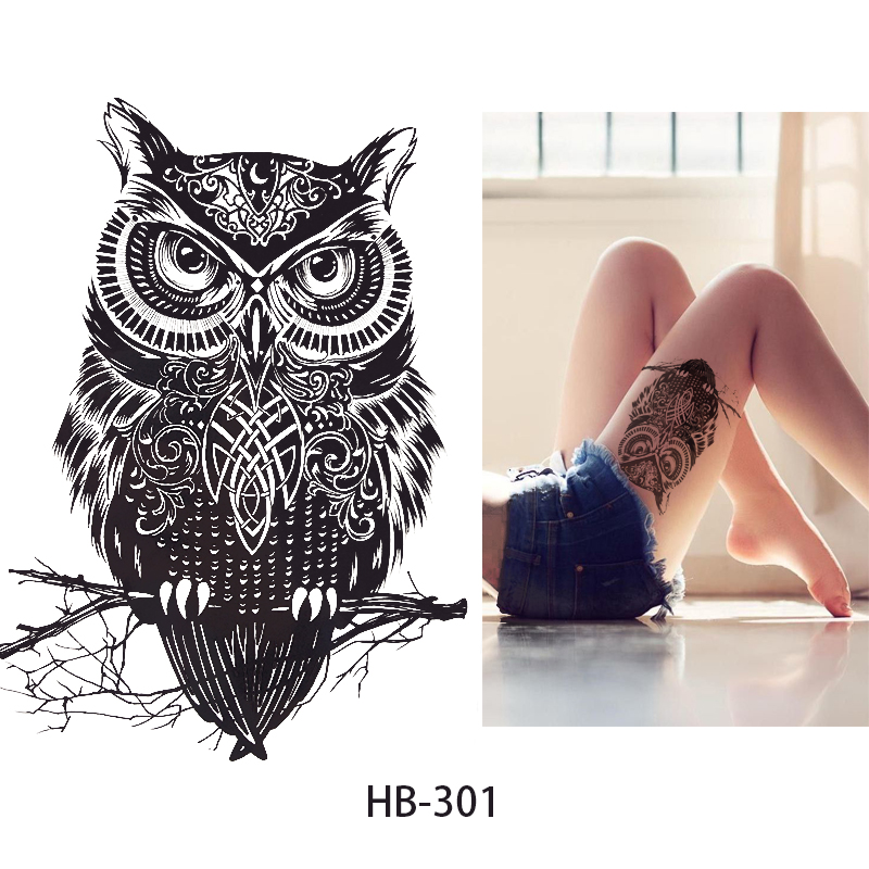 NEW Fashion Sample OWL  21 X 15 CM Sized Sexy Cool Beauty Tattoo Waterproof Hot Temporary Tattoo Stickers#165