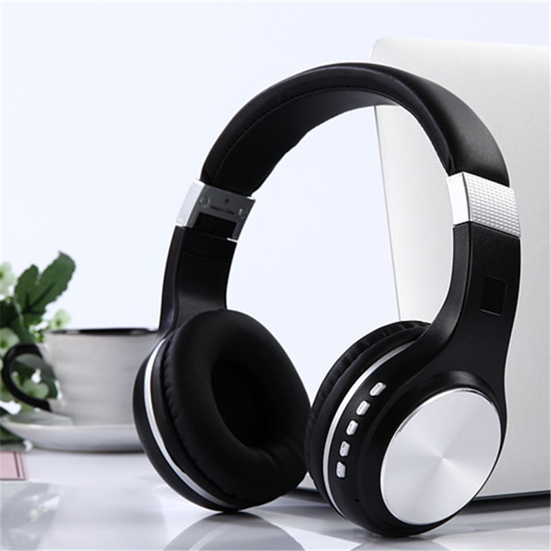 New Folder Wireless Bluetooth TF Card Headset with Bluetooth 4.1 Stereo Mobile Music Stereo Headset Lowered For Iphone Android