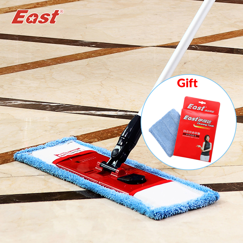 East flat telescopic mop with pole microfiber cloth <font><b>towel</b></font> home floor cleaning kitchen living room flat mop cleaning tools