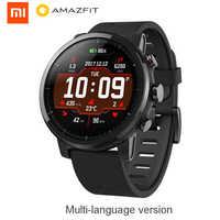 Huami Amazfit 2 inteligentny zegarek Stratos tempo 2 mężczyźni z GPS Xiaomi zegarki monitor tętna ppg 5ATM wodoodporny