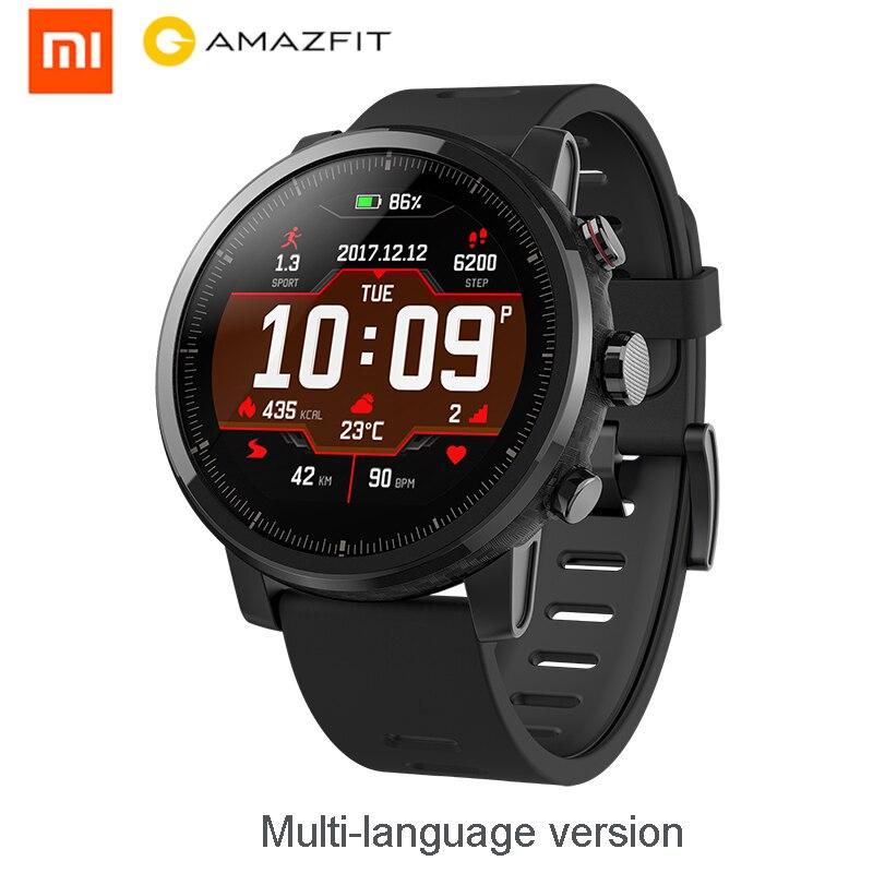 Huami Amazfit 2 montre intelligente Stratos Pace 2 hommes avec GPS Xiaomi montres PPG moniteur de fréquence cardiaque 5ATM étanche