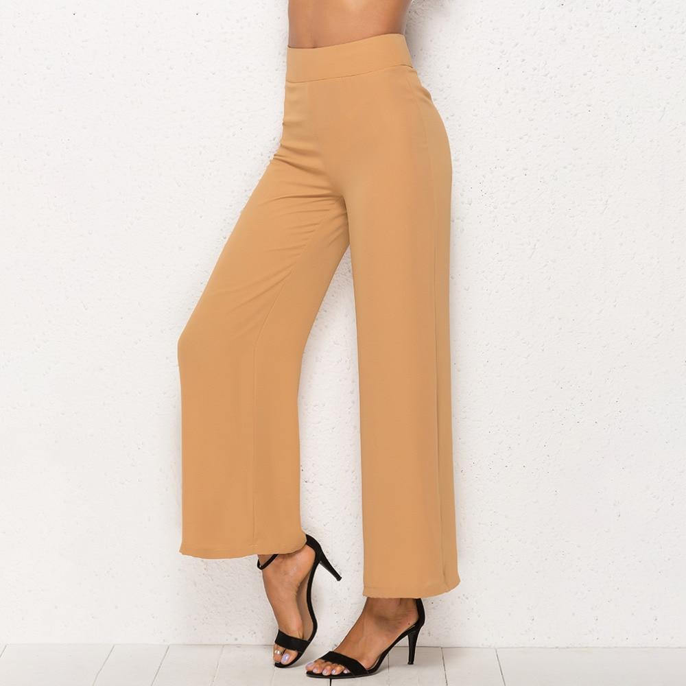 Summer Women Wide Leg   Pant   Casual Loose Trousers Ladies High Elastic Waist   Pants   Pantalon Femme Streetwear Chiffon   Pants     Capris