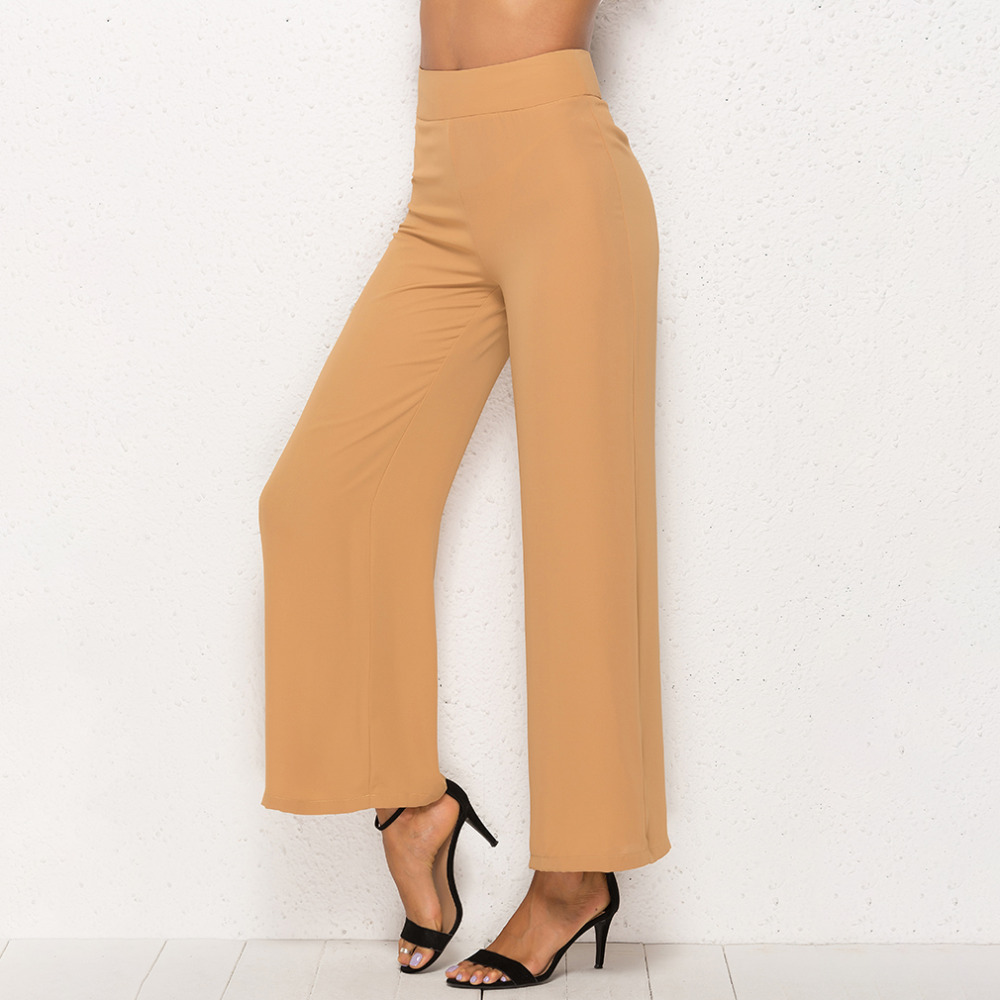 Summer Women   Wide     Leg     Pant   Casual Loose Trousers Ladies High Elastic Waist   Pants   Pantalon Femme Streetwear Chiffon   Pants   Capris