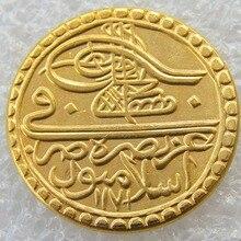 1171 Turkey Ottoman Empire Zeri Mahbub Gold Plated Copy Coin